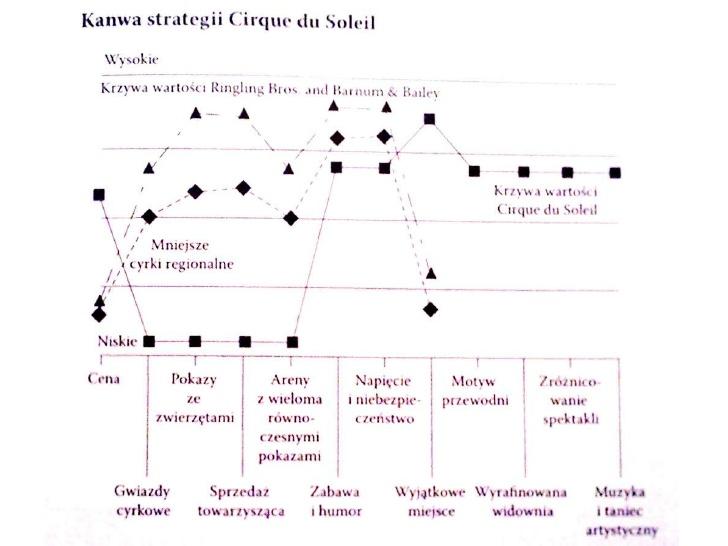 Strategia błękitnego oceanu, przykłady, Kanwa Strategii, jęz. polski