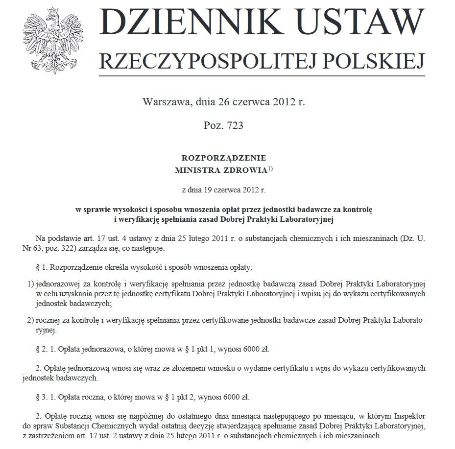 Dobra praktyka laboratoryjna (GLP) (DPL) 12