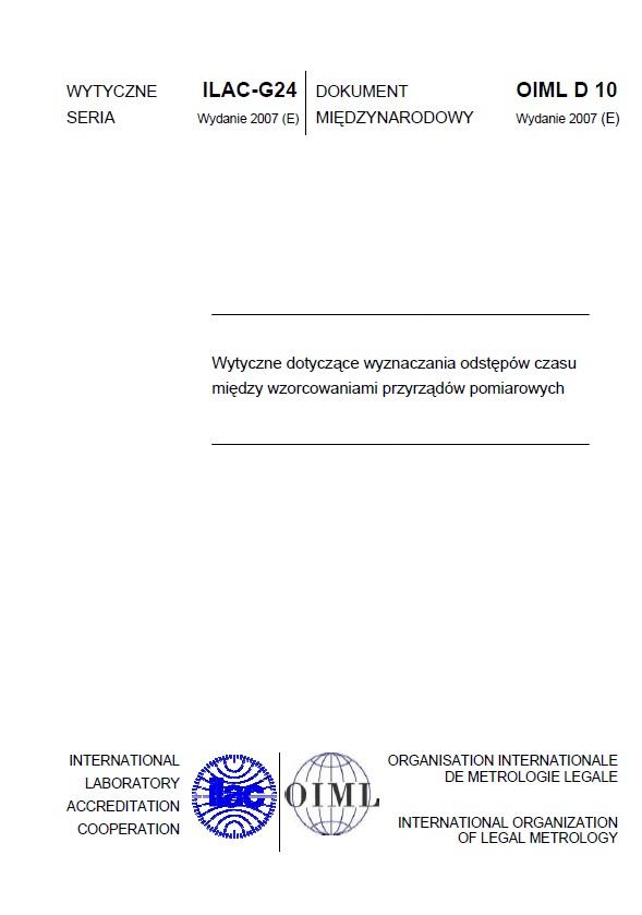 Spójność pomiarowa - wzorcowanie - metrologia 7