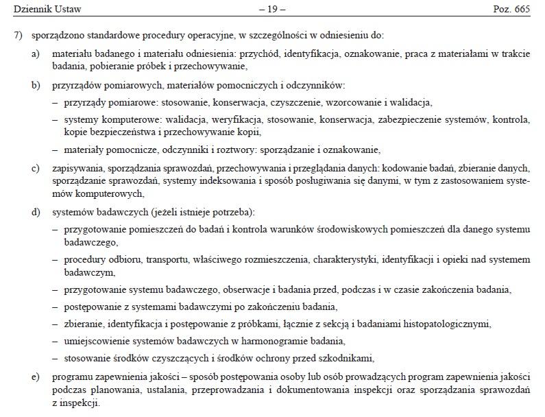 Dobra praktyka laboratoryjna (GLP) (DPL) 10
