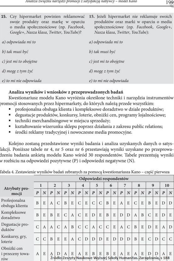 Model Kano. Badanie satysfakcji klienta (nowe cechy i innowacje) 8