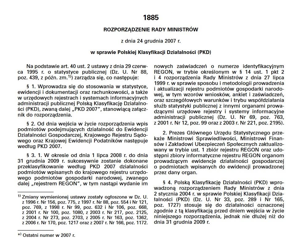Kody PKD, czyli Polska Klasyfikacja Działalności (jest ich dużo) 2