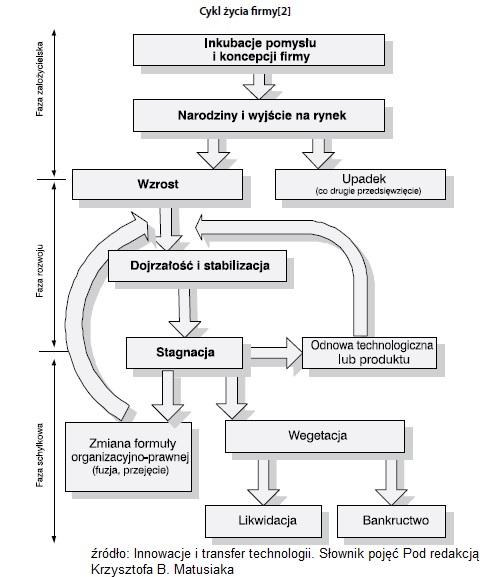 Cykl życia przedsiębiorstwa (bardzo wazne etapy) KOMPENDIUM 2