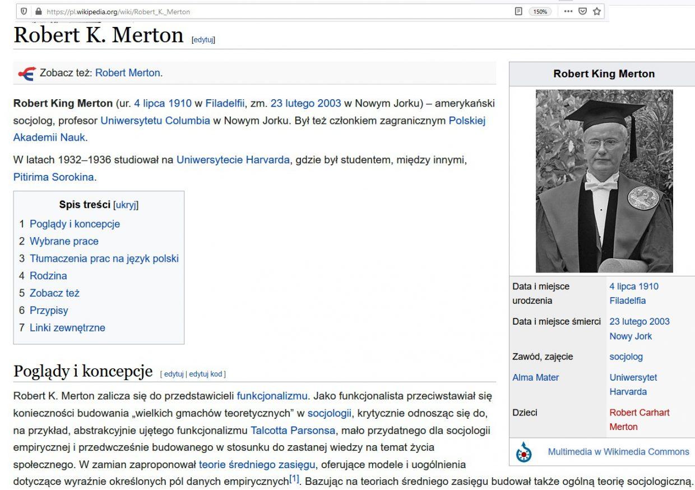 Samospełniająca się przepowiednia Roberta Mertona