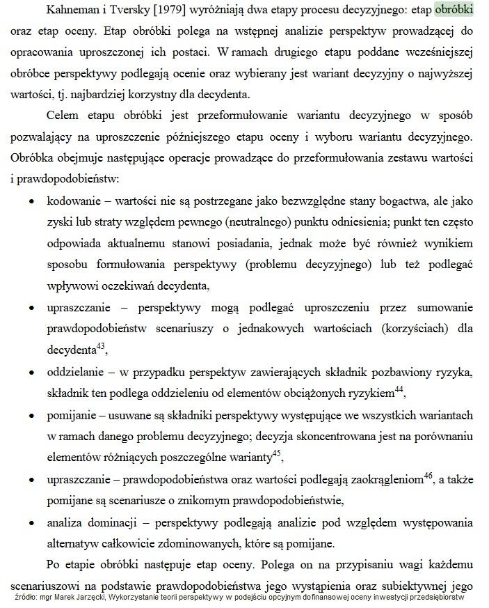 Teoria perspektyw (prospect theory)- Kahneman otrzymał NOBLA 2002 r. 1
