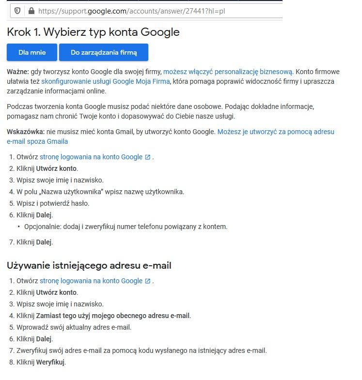 jak założyć darmowe konto google gmail