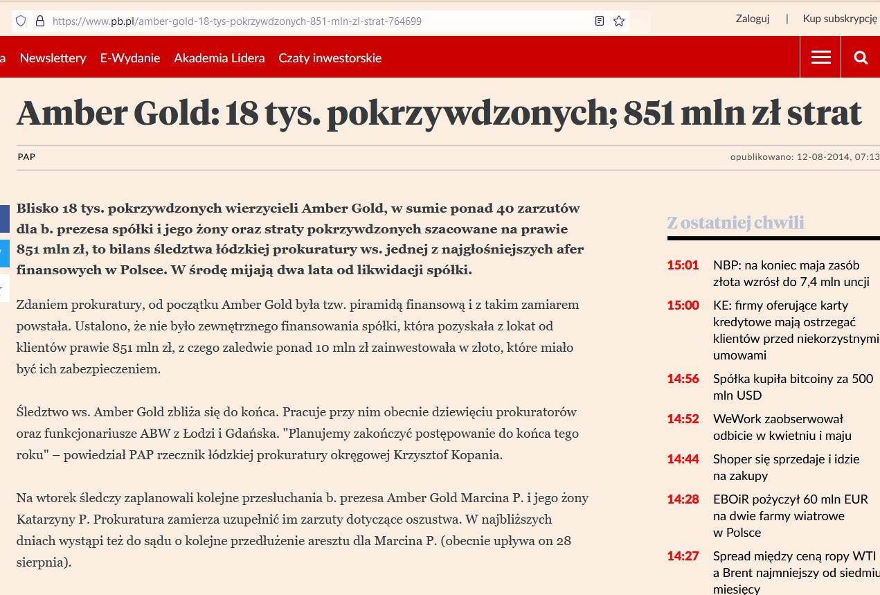 historia amber gold